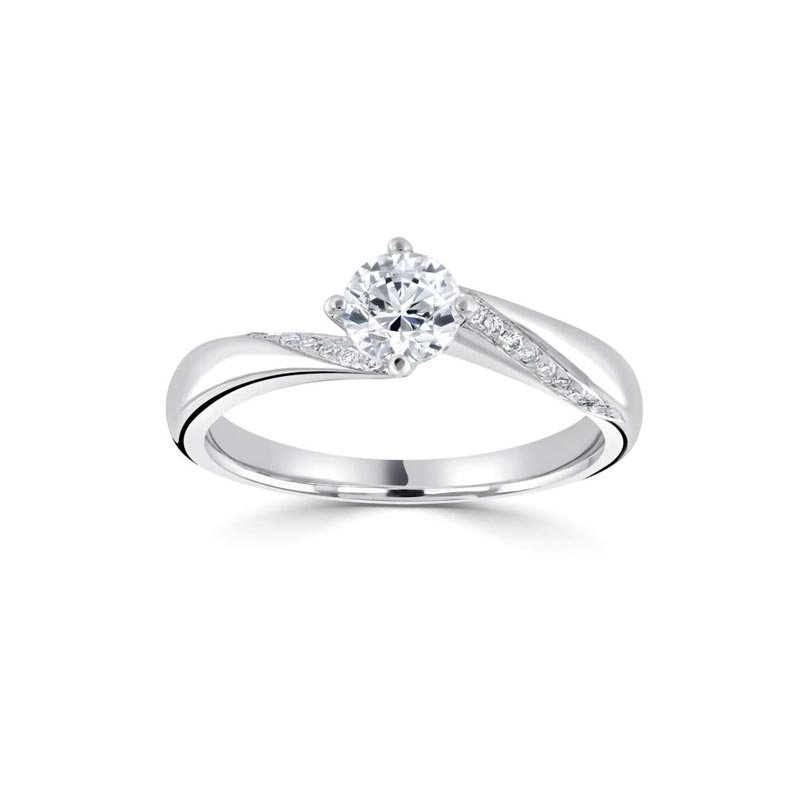0.55ct Four Claw Twist Solitaire