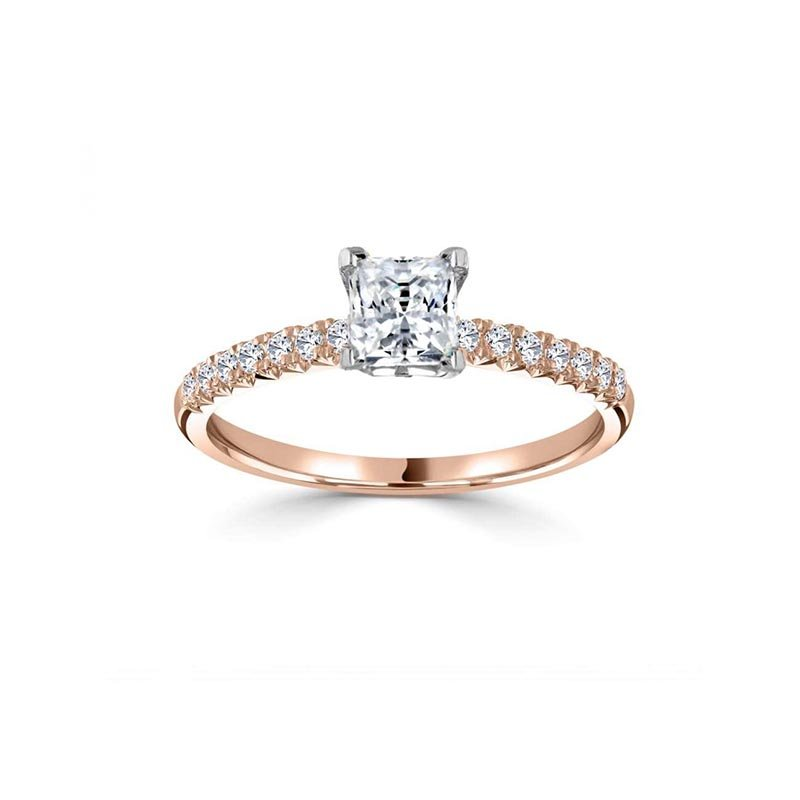 0.69ct Princess Solitaire