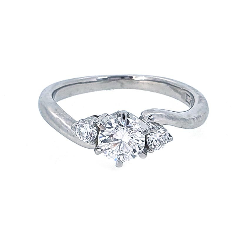 0.57ct Platinum Diamond Shaped Ring