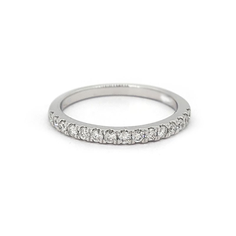 0.24ct 9ct White Gold Castle Set Diamond Ring £370.00