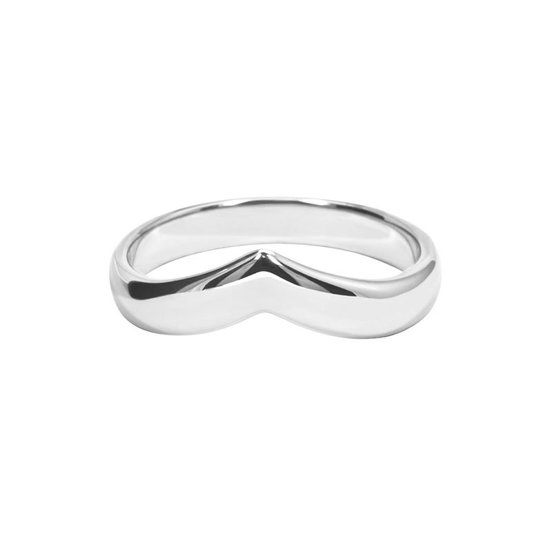 5mm Wishbone Shape Wedding Ring