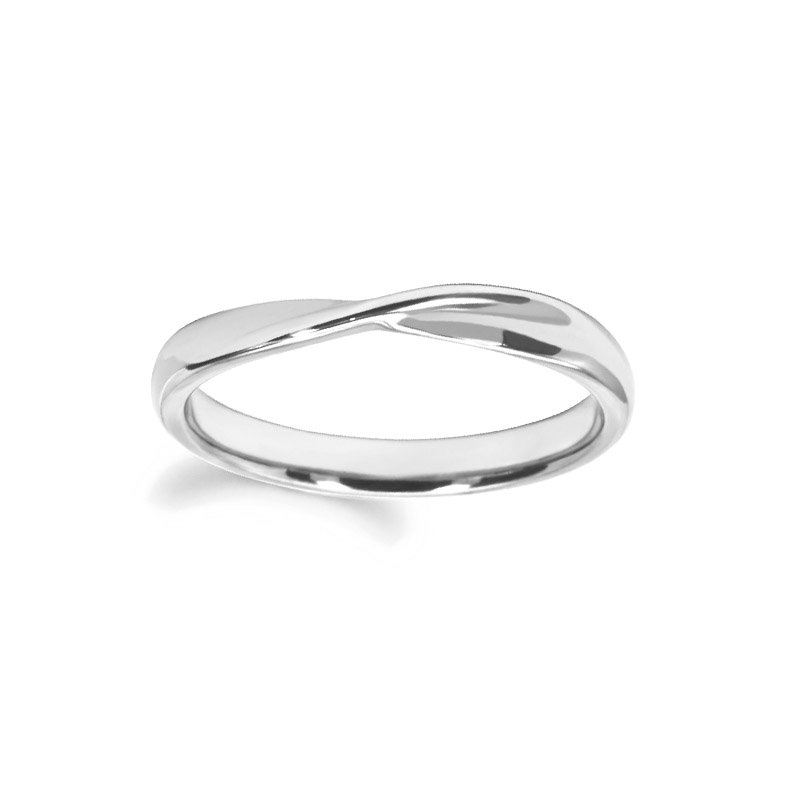 3mm Shaped Wedding Ring