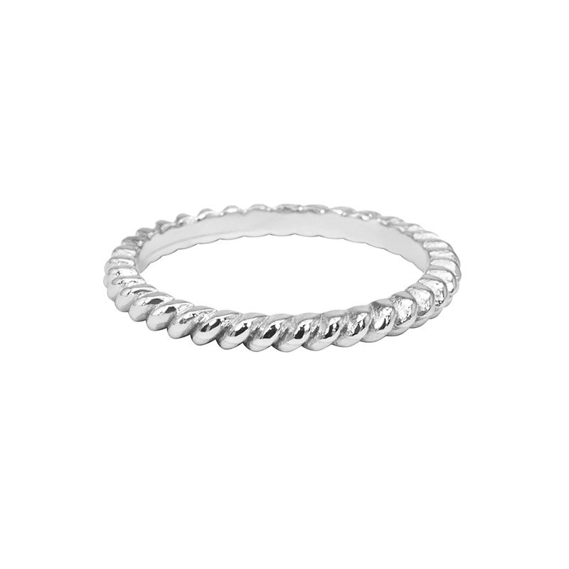 Rope Shaped Wedding Band