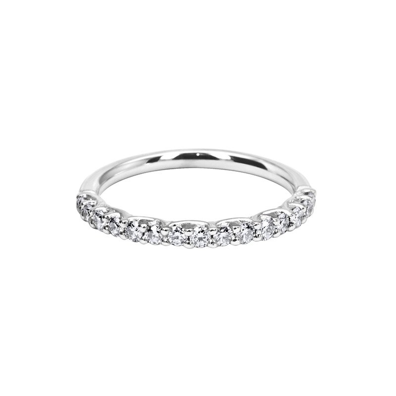 0.35ct Fancy Claw Set Diamond Wedding Band