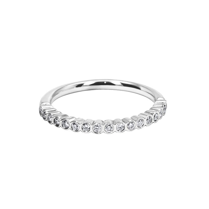 0.17ct Fancy Rubover Diamond Set Wedding Band