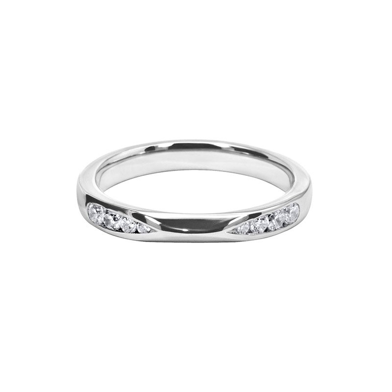 0.20ct Diamond Set Shaped Wedding Ring
