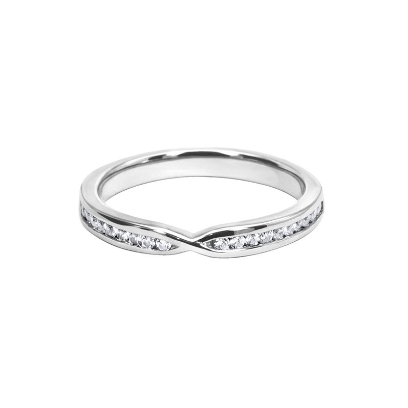 0.24ct Diamond Set Shaped Wedding Ring