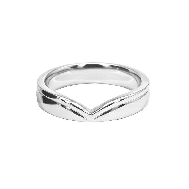 4.25mm Shaped Wedding Ring