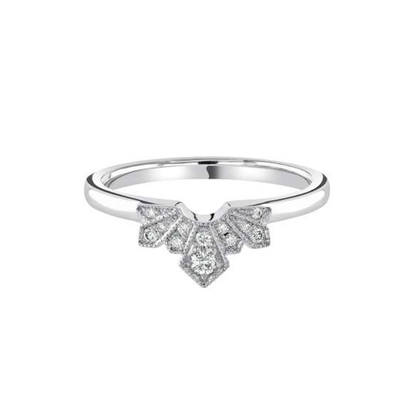 0.11ct Art Deco Fan Shaped Wedding Band £1231.00
