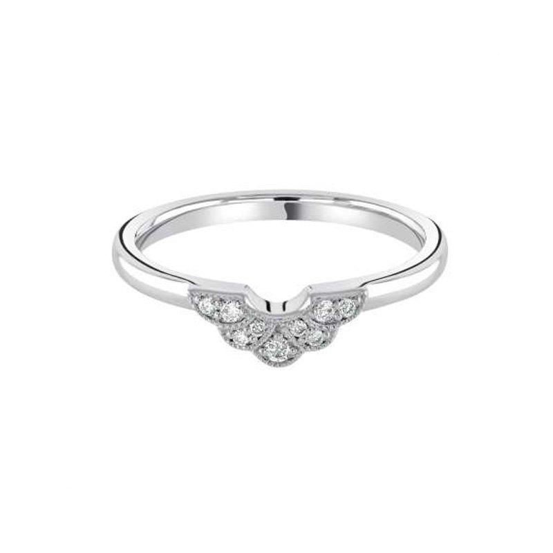 0.08ct Diamond Set Fancy Wedding Ring