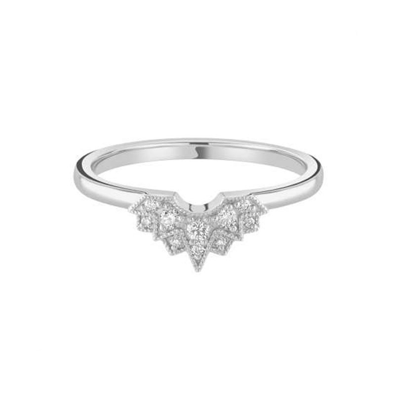 0.11ct Star Burst Shaped Wedding Band