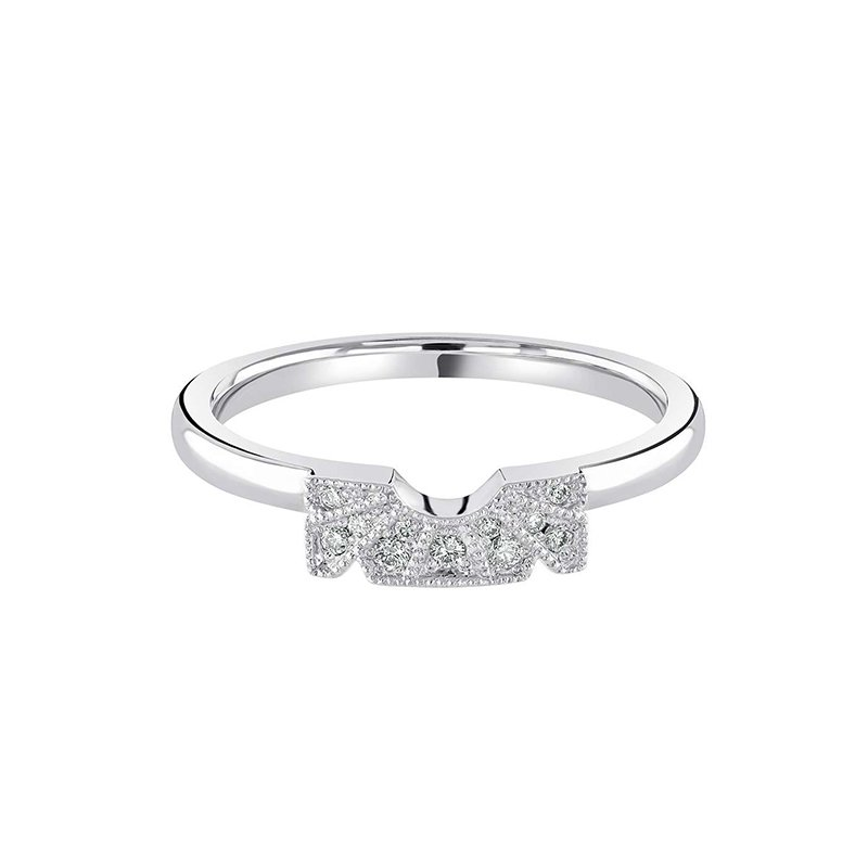 0.07ct  Art Deco Inspired Shaped Wedding Band £990.00