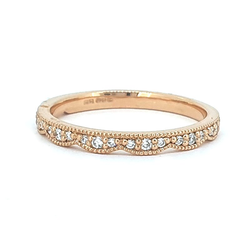 0.14ct Scalloped Edge Wedding Band   Red £735.00