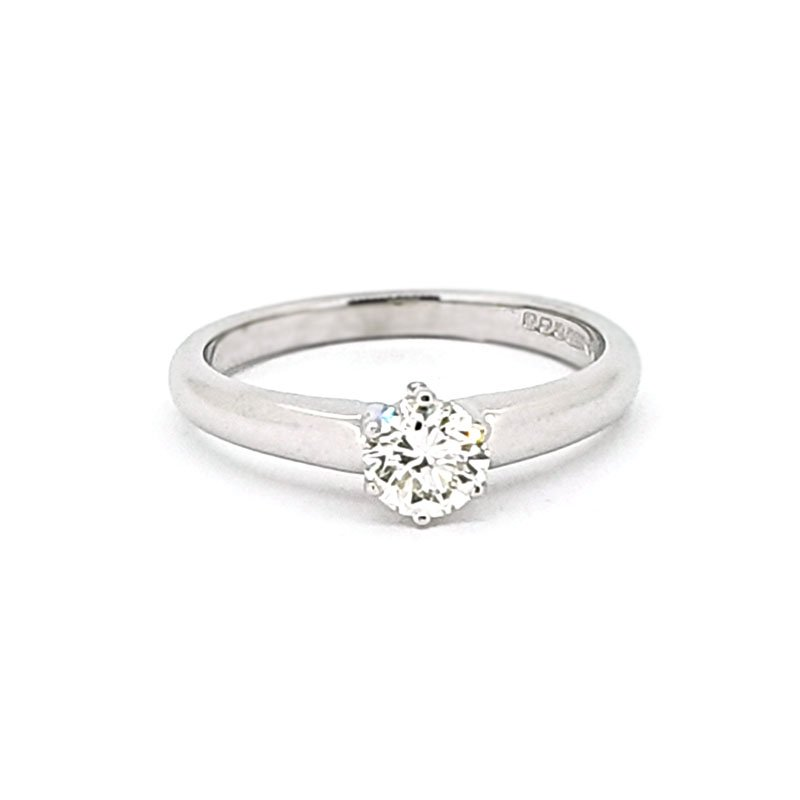 18ct White Gold 0.52ct Round Diamond Ring £3375.00