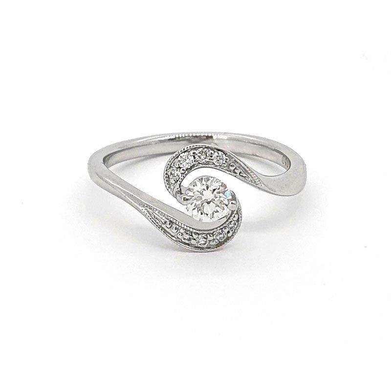 18ct White Gold 0.21ct Fancy Diamond Ring £1395.00