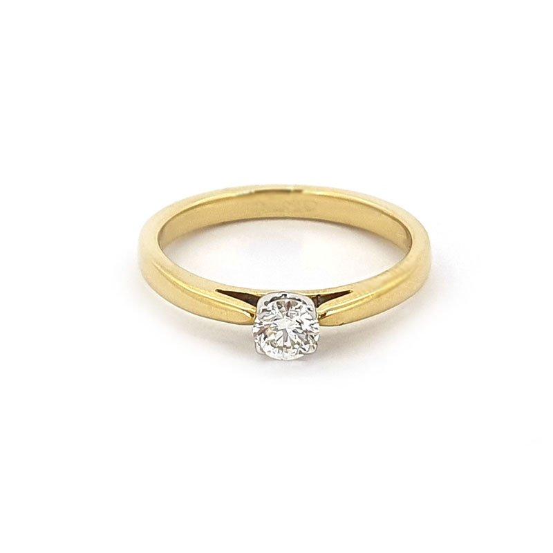 18ct Yellow Gold 0.30ct Diamond Solitaire £2205.00