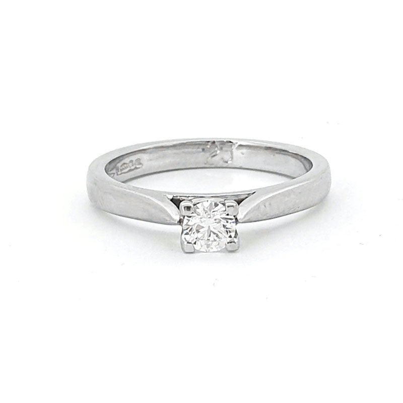 0.23ct Platinium Round Diamond Ring £2205.00